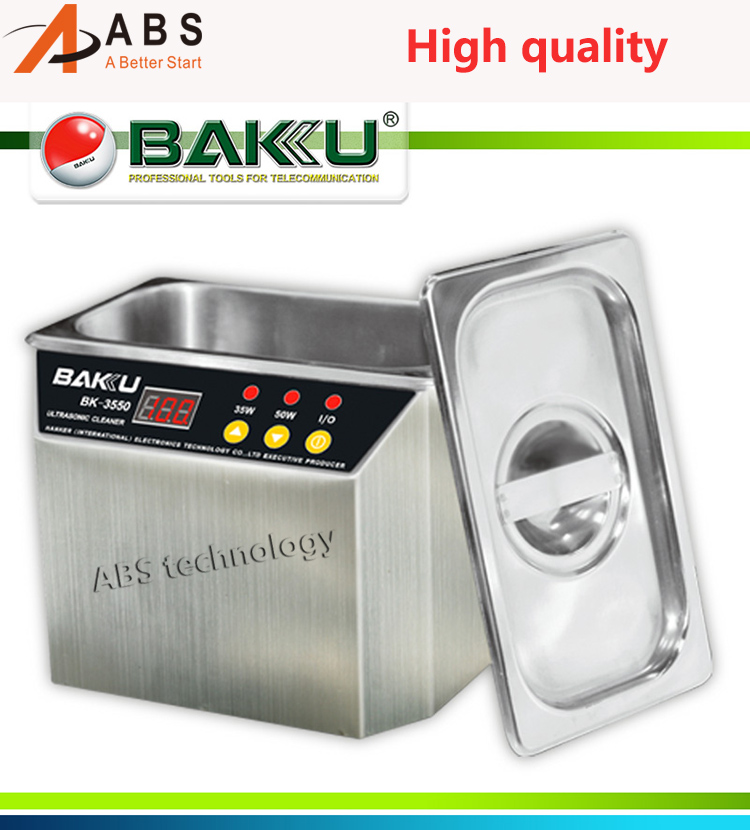 Baiku BK-3550 110V / 220V Stainless Steel Ultrasonic Cleaner For ornament Cleaning Tool Machine 1pc 110v 220v ps 60al 360w ultrasonic cleaner 15l cleaning equipment stainless steel cleaning machine
