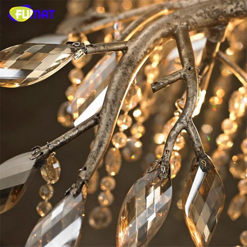 FUMAT Living Room Chandelier LED Crystal Lustre Branch Chandelier Led Light For Bedroom Dining Room Indoor Lighting in Chandeliers from Lights Lighting
