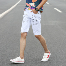 8323220e687d Mens Denim Shorts Slim Large Size Casual Knee Length Short Hole Jeans Shorts  for Men 2019