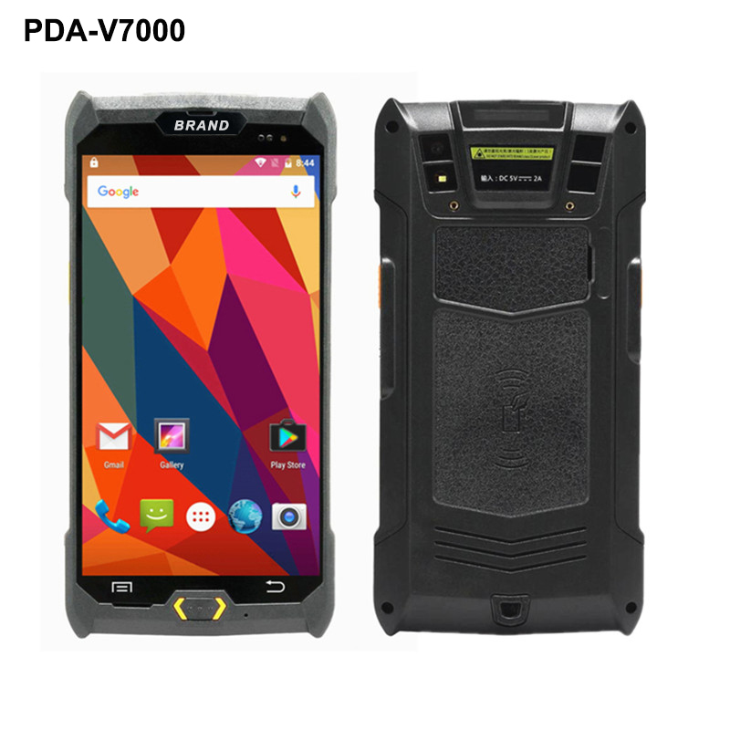 V7000 4G/3G/2G Handheld PDA Android 6.0 POS Terminal Touch Screen 1D/2D Reader Wireless Wifi Bluetooth GPS Barcode Scanner