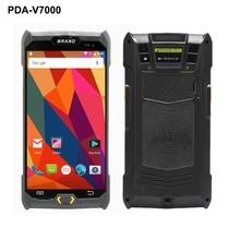 V7000 4G/3G/2G PDA tenu dans la main Android 6.0 Terminal de position écran tactile 1D/2D lecteur sans fil Wifi Bluetooth GPS code barres Scanner