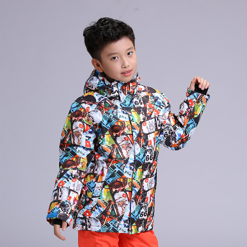 New GSOU SNOW Childrens Ski Suit Outdoor Winter Windproof Waterproof Warmth Breathable Ski Jacket For Boy Size XS-LNew GSOU SNOW Childrens Ski Suit Outdoor Winter Windproof Waterproof Warmth Breathable Ski Jacket For Boy Size XS-L