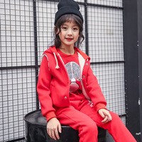 Girl Suit Three Piece Fashion Trendy Sports Cartoon Pattern Cute Clothes