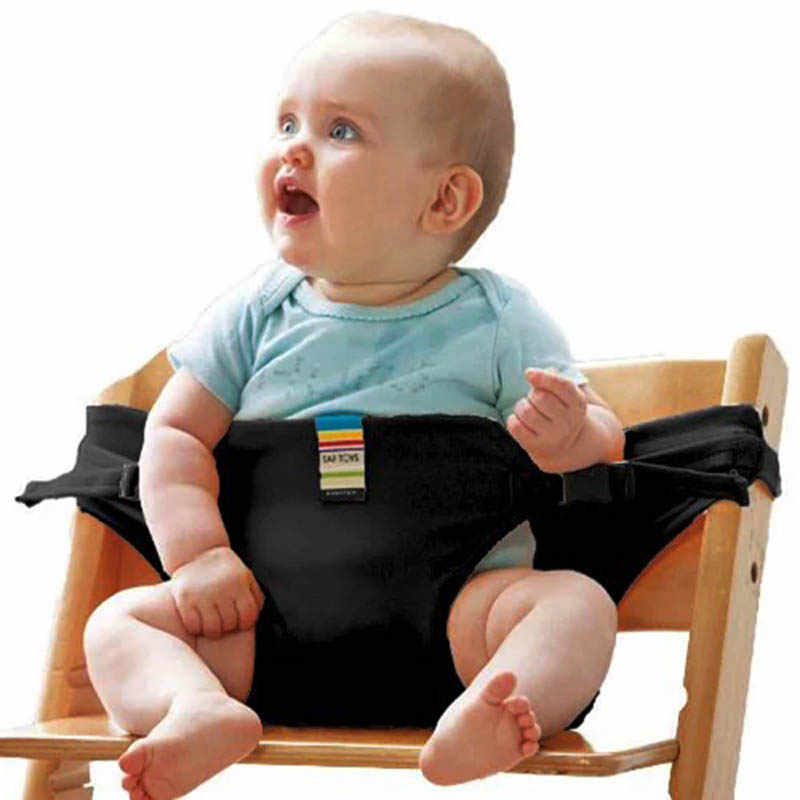 Cadeira de jantar do bebê cinto de segurança assento portátil cadeira de almoço assento de criança estiramento envoltório cadeira de alimentação arnês assento de reforço do bebê