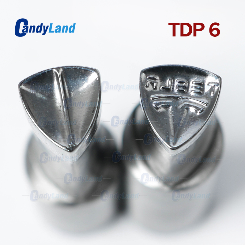 CandyLand TDP6 TSL Milk Tablet Die 3D Punch Press Mold Candy Punching Die Custom Logo Calcium Tablet Punch Die For TDP MachineCandyLand TDP6 TSL Milk Tablet Die 3D Punch Press Mold Candy Punching Die Custom Logo Calcium Tablet Punch Die For TDP Machine