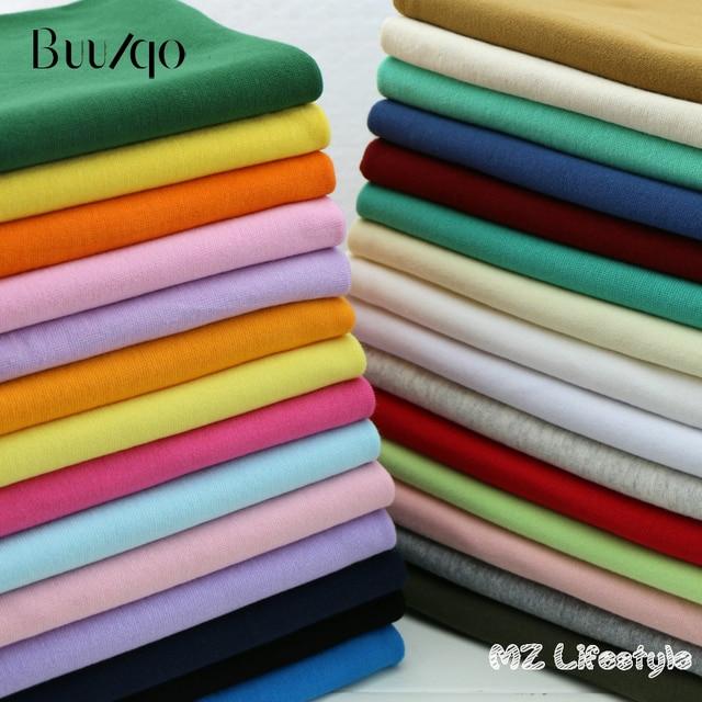 Buulqo 20x100 см 1x1 эластичная хлопчатобумажная трикотажная ткань в рубчик для DIY швейное производство одежды аксессуары ткань