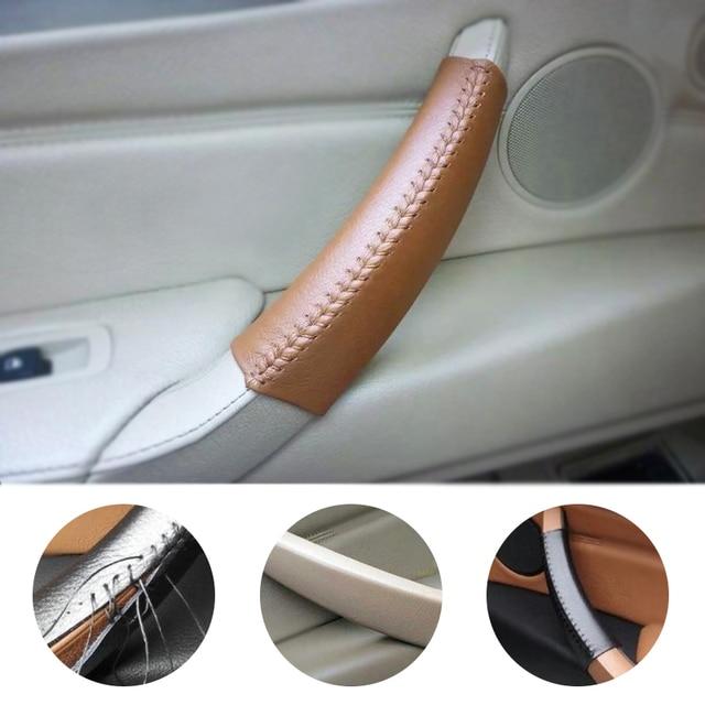 Skóra bydlęca do naszycia pokrywa do klamki dekoracji wykończenia dla BMW X5 E70 X6 E71 2007 2008 2009 2010 2011 2012 2013