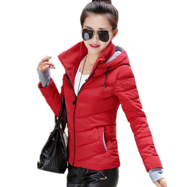 2018 new ladies fashion coat winter jacket women outerwear short wadded jacket female padded parka women's overcoat 3