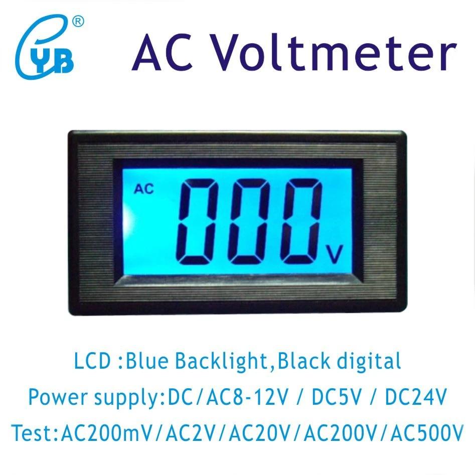 Un PC Panel Mount LCD Affichage Tension de Mesure Volt Meter AC 200 V