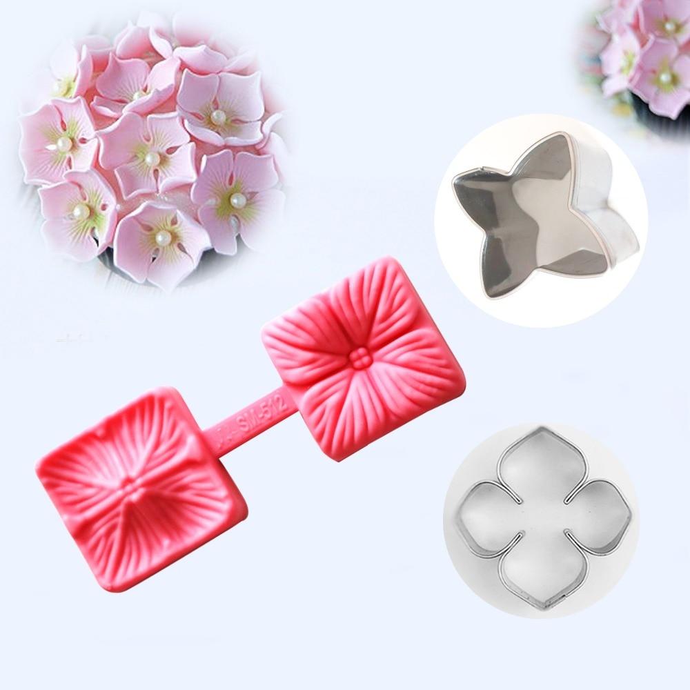 RoHydrangea Λουλούδι Petal Σιλικόνης Veiner & - Κουζίνα, τραπεζαρία και μπαρ - Φωτογραφία 1