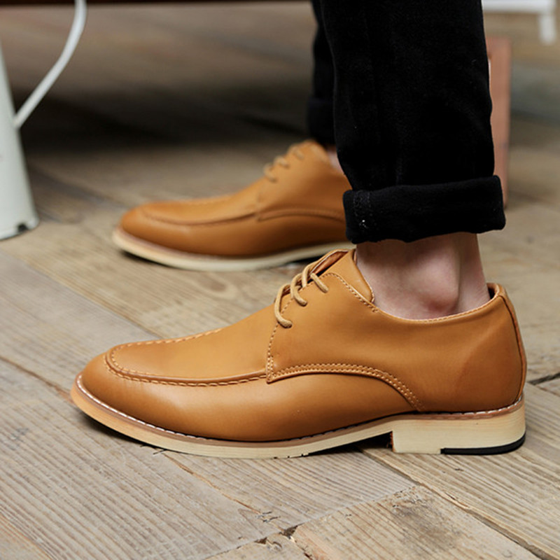 1c1aa9aec7617a 2015 Men Brogues Shoes Leather Office Dress Shoes Men Suit Shoes Summer  Style Oxfords Brogues Sapato Masculino Size 39 44 YCK22-in Women s Flats  from Shoes ...