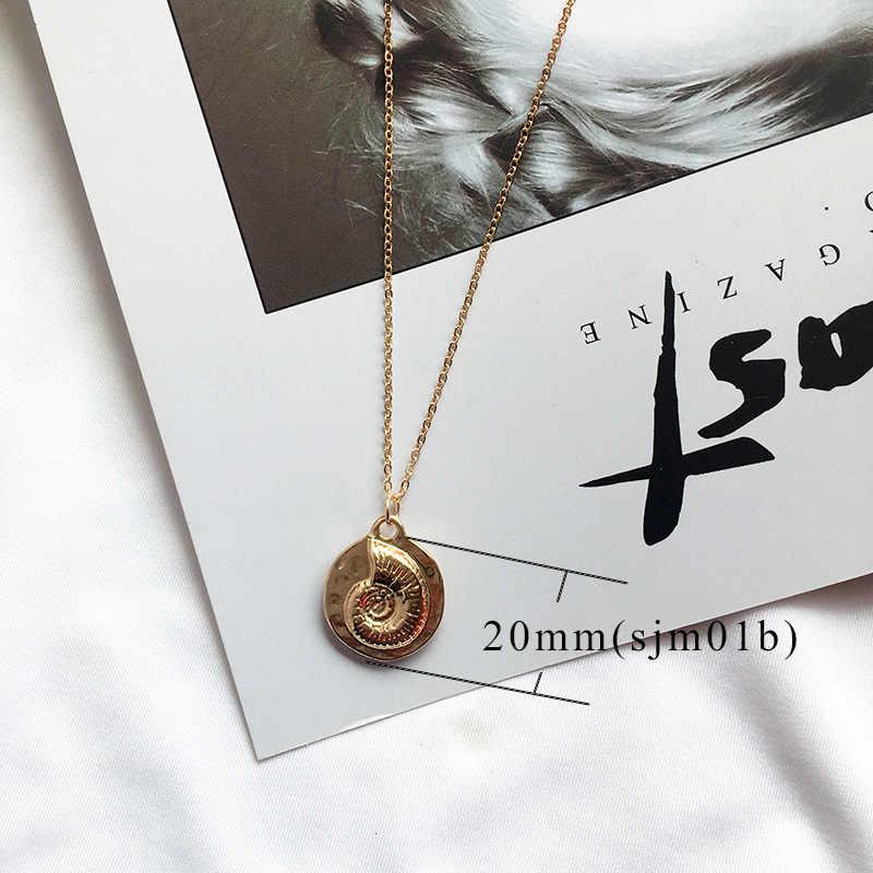 2019 ใหม่แฟชั่นสีทอง Cowrie Shell สร้อยคอผู้หญิง Conch จี้สร้อยคอเครื่องประดับฤดูร้อนปลาดาวปลอกคอ