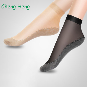 10 Pairs/ Lot Velvet Silk Womens Summer Socks Cotton Bottom Soft Non Slip Sole Massage Wicking Slip-resistant Spring Autumn Sock