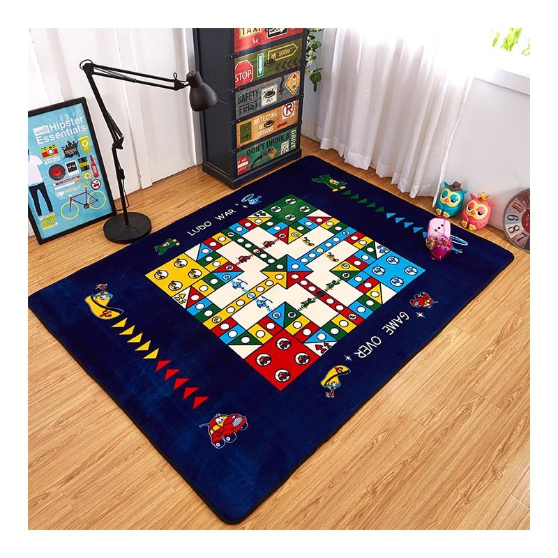 Mode échecs vol salon chambre décoratif tapis zone tapis salle de bain plancher porte Yoga bébé ramper jeu tapis bleu