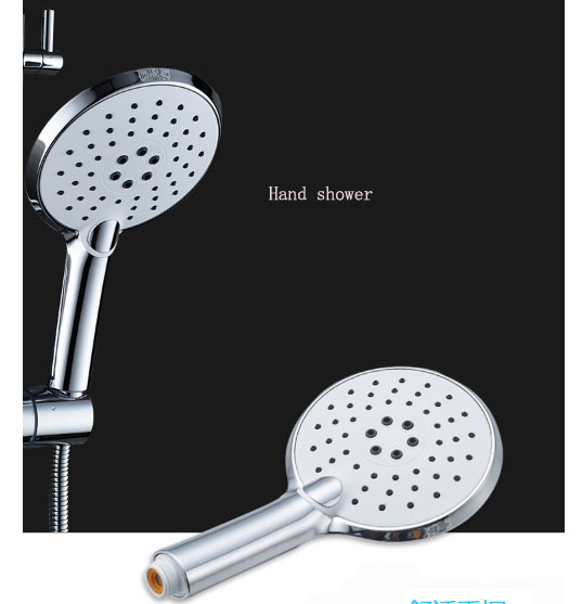 shower set full copper body  set mixed water valve saving shower head 9 inch top spray 110 dense outlets ABS shower set full copper body  set mixed water valve saving shower head 9 inch top spray 110 dense outlets ABS