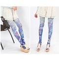 New Spring Japanese Harajuku Original Marine Jellyfish Printed Pantyhose Woman's 3D Tatoo Tights