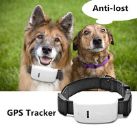 Mini Waterproof Dog GPS Tracker Collar For Pet Dog Cats Real Time Locator Alarm with Collar