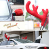 Reindeer Christmas Decor Car Vehicle Nose Horn Costume Set Rudolf Christmas Reindeer Antlers Red Nose Ornaments