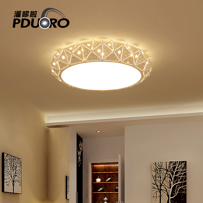 Ceiling Lights Lamp Luminaria Ceiling LED Light With Remote Control Dimmable Fixtures Modern Lamp Living Room Light Lighting black and white round lamp modern led light remote control dimmer ceiling lighting home fixtures