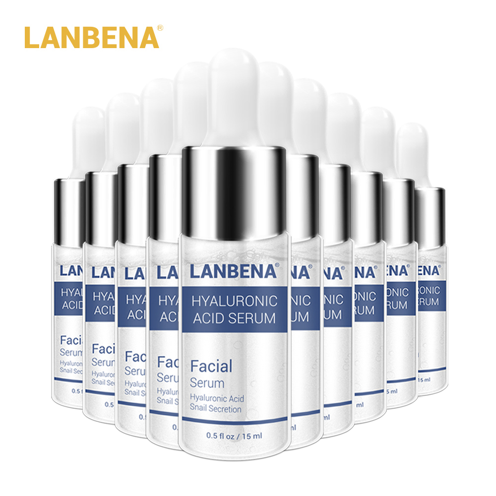LANBENA Hyaluronic Acid Serum Snail Essence Face Cream Moisturizing Acne Treatment Repair Whitening Anti-Aning Winkles 10PCS