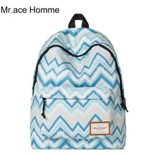 Mr. ace homme женский корейский Полосатый печати рюкзак случайные туристические рюкзаки девочек мода довольно прекрасные школьные сумки