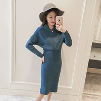2018 Autumn New Pattern Woman Knitting Dress Pregnant Woman Sweater Rendering Unlined Garment Lactation Long Fund Nurse Clothes
