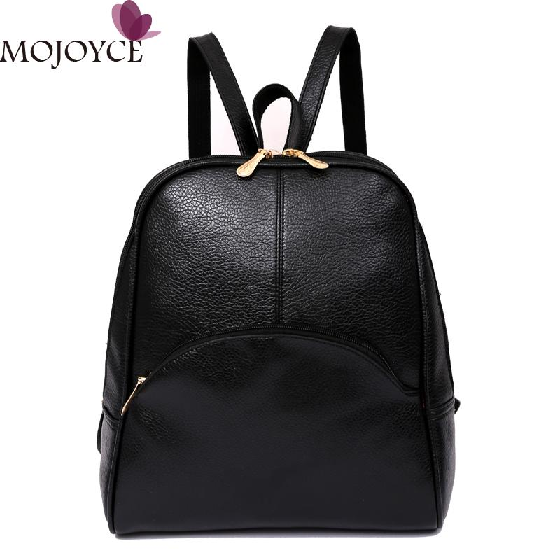 2017 Fashion Women Backpack PU Leather Backpack for Teenage Girl Student Travel Shoulder Bag Bagpack Mochila Female High Quality women backpack black red fashion style school daypacks funny quality pu leather small shoulder bag teenage girl travel back pack