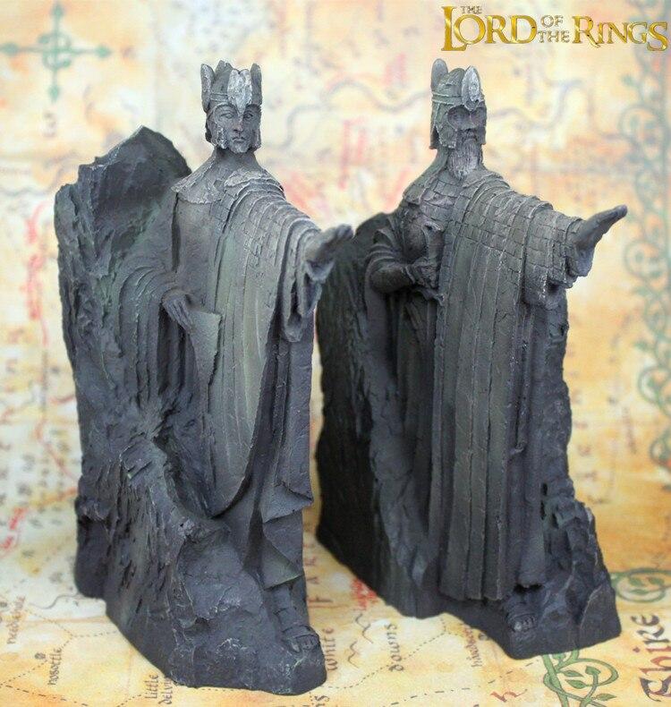1 пара Властелин Кольца toythe Аргоната Craft фигурка героя Хоббит цифры ворота Kings статуя игрушки модель книжные полки