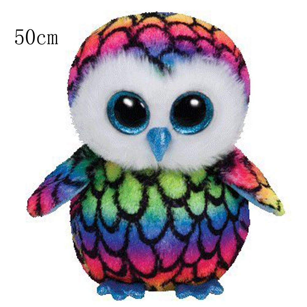 d8d490e2c1c 2019 Pyoopeo Ty Beanie Boos Large Plush Aria Owl 50cm Big Eyes ...