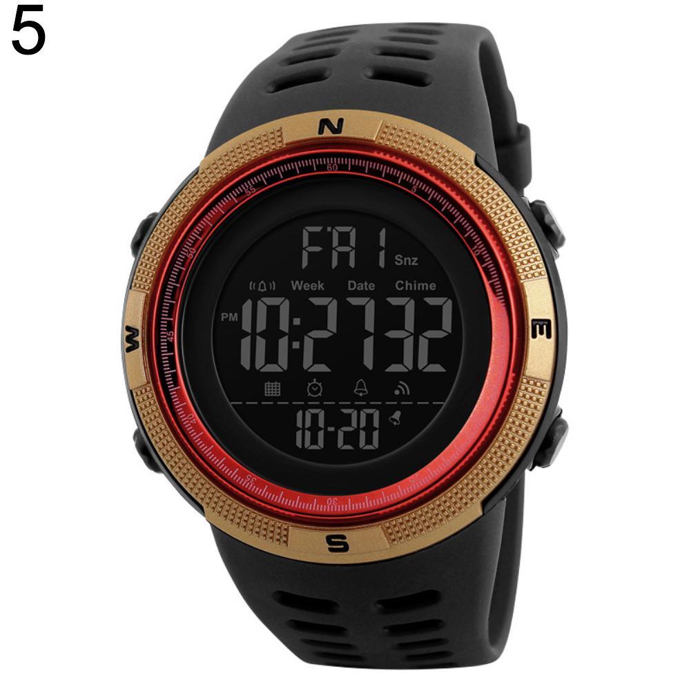 Skmei 1251 moda despertador display digital calendário à prova dwaterproof água esportes relógio de pulso masculino banda silicone relogio inteligente