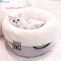 Soft PP Cotton Pet cat bed Winter Warm Padded Puppy cat cushion Semi surround design Pet cat house Sweet sleep for 5 10kg Pet