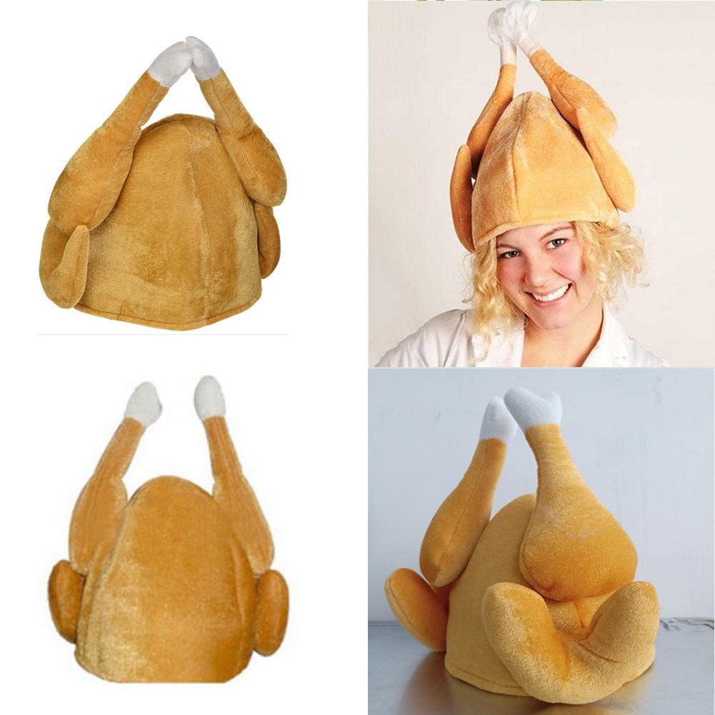 Unisex Plush Turkey Hat Thanksgiving Day Gift Party Halloween Costume Hat Cap At Any Cost