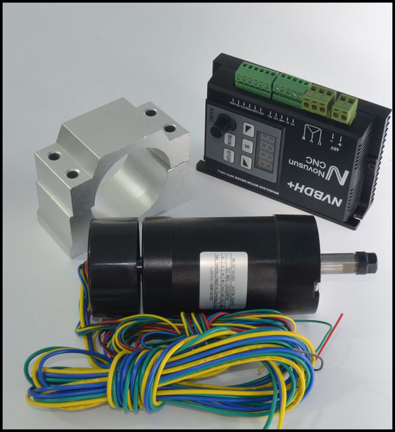CNC 400W DC Brushless Spindle Motor Driver Kit + LCD control panel NVBDH+