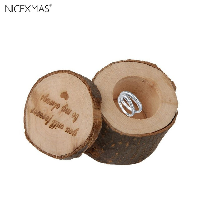 Rustic decor wood craft wedding ring box,vintage engagement ring box ...