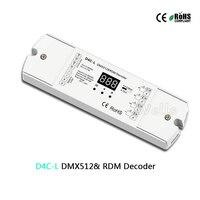 D4C L 4CH CC DMX512 decoder 4 channel PWM current receiver DMX512 decoder led controller dmx signal driver with digital display