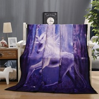 BEST.WENSD Colourfast Horse weighted blanket 3D Dusty Lightning Printed bed sheets Photography Plush throws Blanket Sofa 150x200