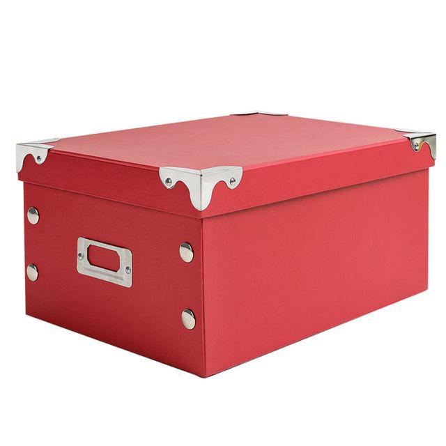 Great 2015 New Folding Lidded Cardboard Storage Box For Toy Organize