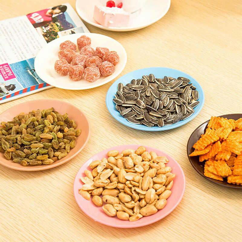 2 pcs 캔디 컬러 플레이트 요리 설탕에 절인 과일 접시 과일 트레이 서빙 트레이 간식 PP 플라스틱 접시 식기 공급