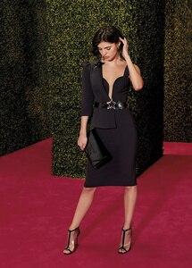 Черное облегающее платье с поясом на одно плечо, модное Клубное платье для вечеринок