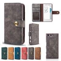 Съемный кожаный чехол для Sony XZ чехол Sony X Compact Чехлы Huawei Коврики 9 случае карты Бумажник Флип Магнитная Роскошные бизнес Новый