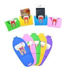 1 шт., симпатичная Стоматологическая карточка, держатель для зубов, молярная форма, красочная резиновая подставка для телефона, для хранения карт, для клиник, подарок для дантиста