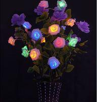 Flores Artificiales para la Decoración de La Flor de Rose de Luz LED Decoración de la Secuencia de la Navidad Luces de la Secuencia Creativa Regalos de San Valentín