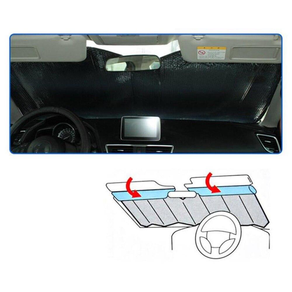 Высокое качество, защита от солнца на лобовое стекло автомобиля, Повседневная Складная крышка, передний задний солнцезащитный отражающий козырек, автомобильный солнцезащитный козырек от солнца