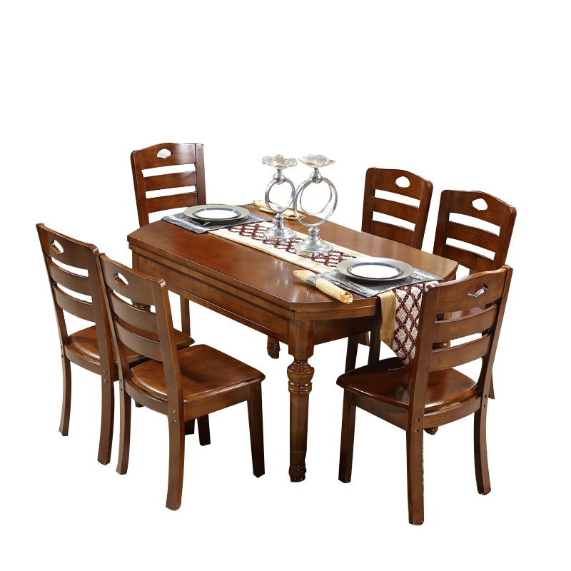 Furniture restaurant combination adjustable fold modern Simple dining table