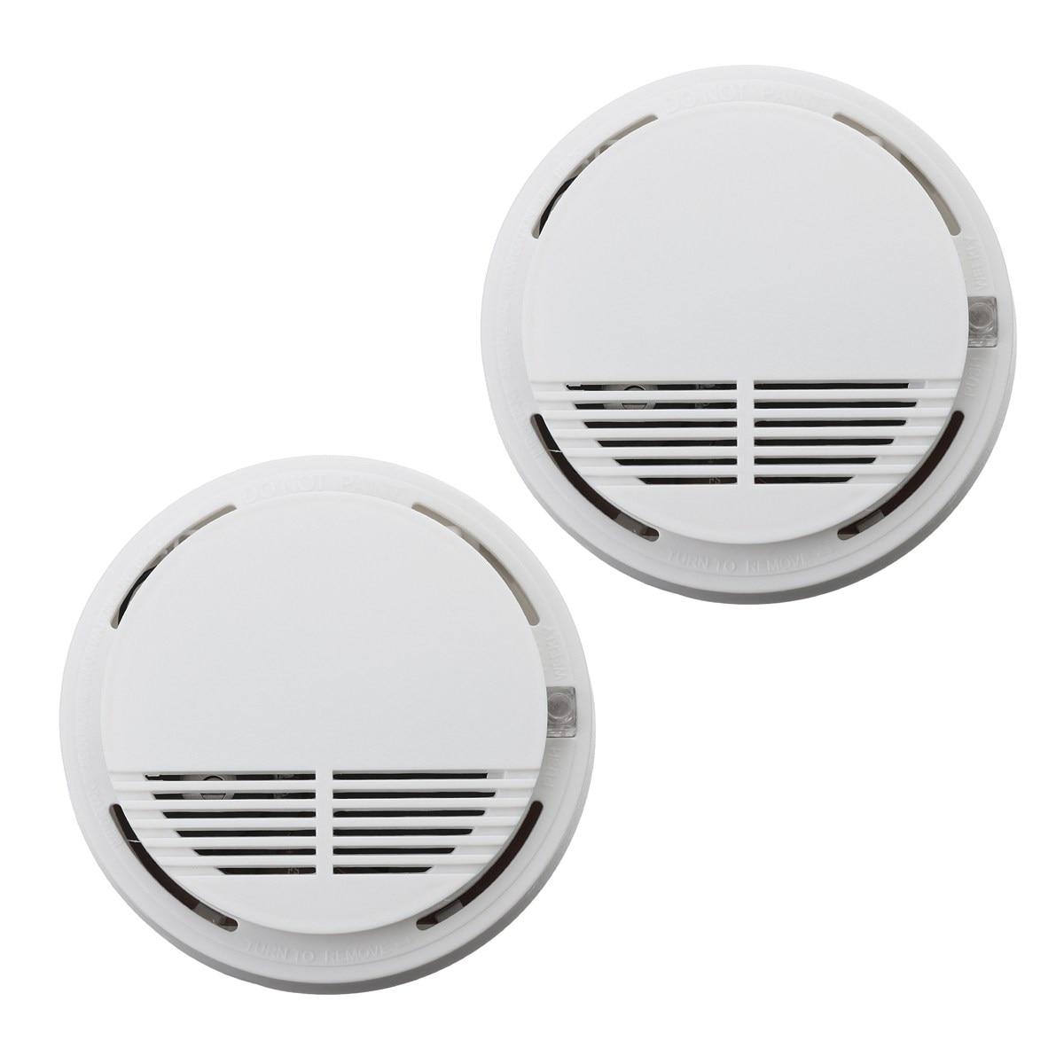 NEW Safurance 2Pcs Home Security Photoelectric Cordless Smoke Detector Fire Sensor Alarm White High Sensitive hot home security photoelectric cordless smoke detector fire sensor alarm white