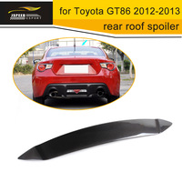 Car Styling Accessories GT86 Real Carbon Fiber Rear Roof Wing Rear Window Lip Spoiler For Toyota