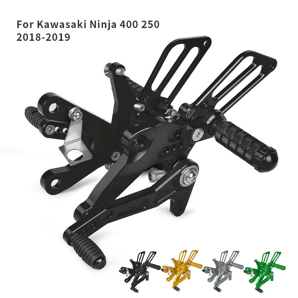 CNC Adjustable Footrests Footpeg Rearset Pedal Rear Sets Pegs For Kawasaki Ninja 400 Ninja 250 2018-2019 Motorcycle Accessories