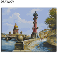 Europe Landscape Frameless Pictures Painting By Numbers DIY Digital Canvas Oil Painting Wall Art GX9616 40