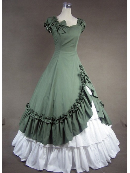 Green Classic Gothic Victorian Dress Cosplay Costumes