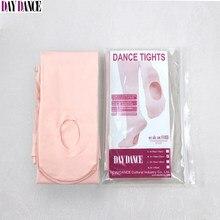 Medias de Ballet para adultos y niñas, calcetines para danza Convertible de terciopelo blanco, pantimedias de Ballet rosas, 12 pares con agujero